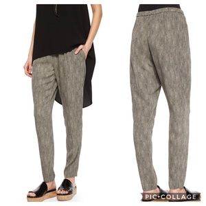 Eileen Fisher Silk Chainette-Print Slouchy Pants